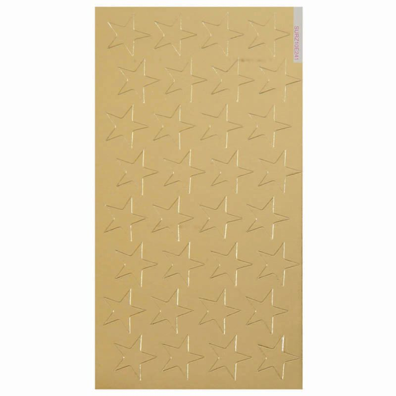 Stickers Foil Stars 1/2 In 250/Pk Gold