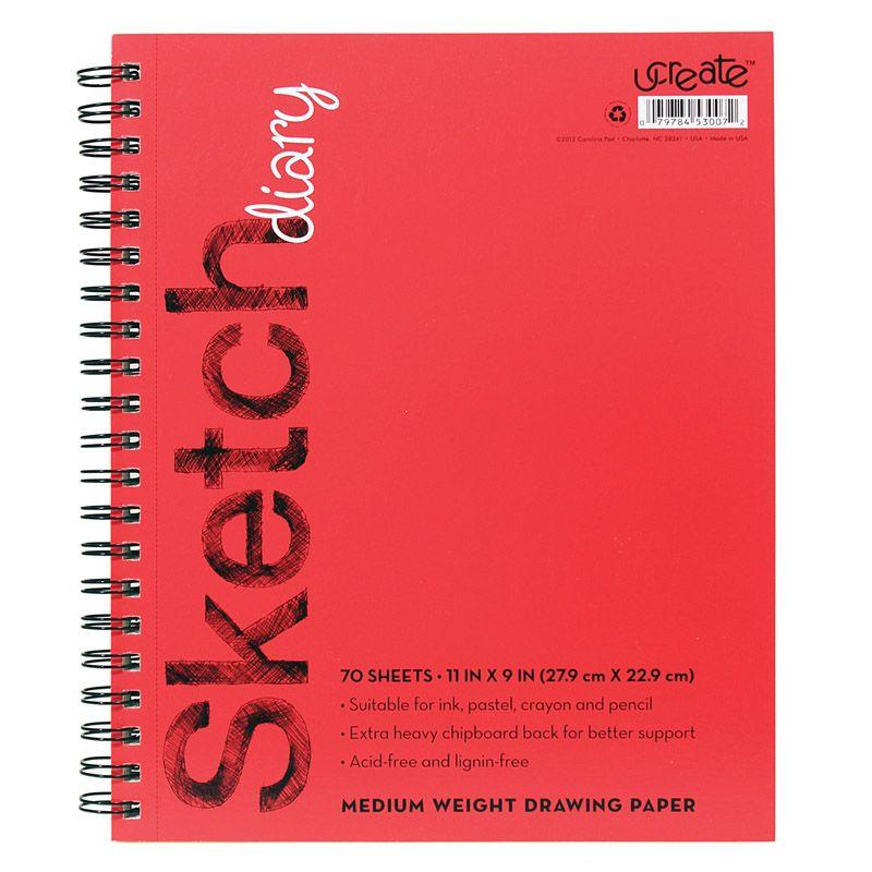 Sketch Diary Medium Weight 11x9 70 Sheets