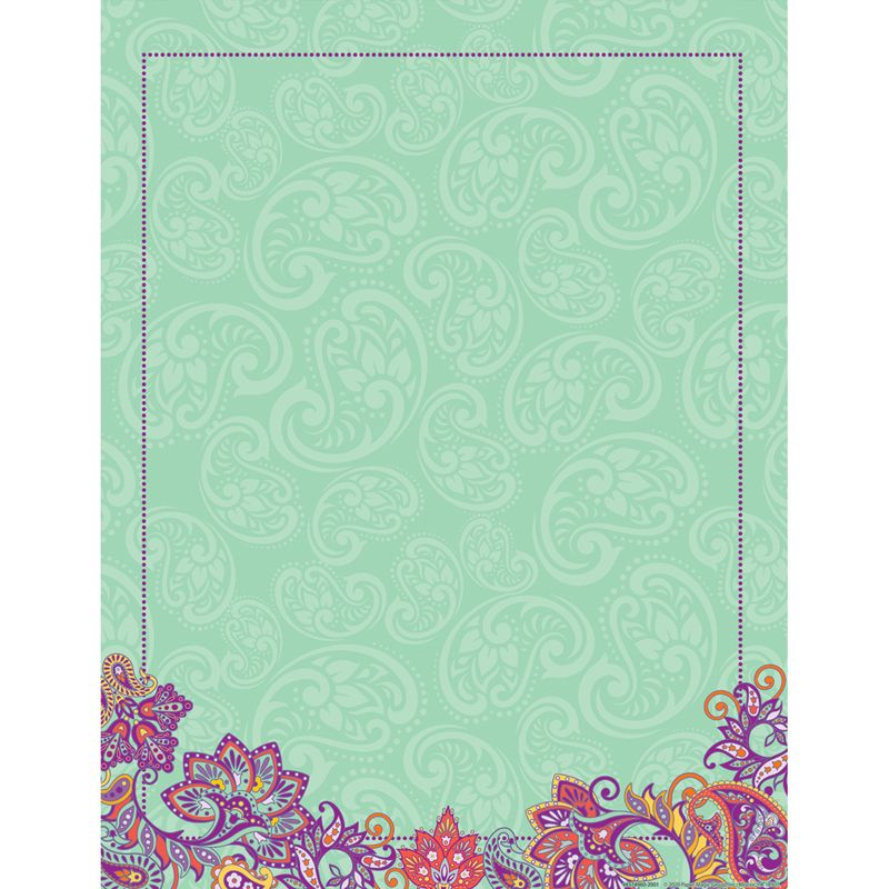 Positively Paisley Blank Chart