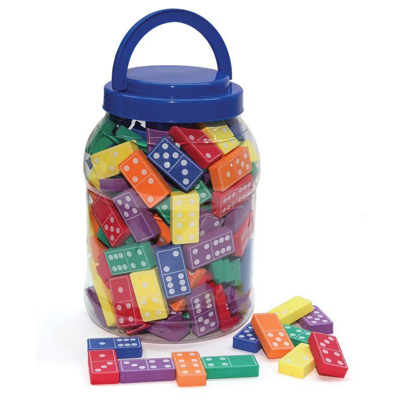 Wonderfoam Dominoes Assorted Colors 168 Pieces