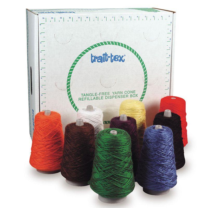 Rug Yarn Dispenser Bright Colors 9 Cones