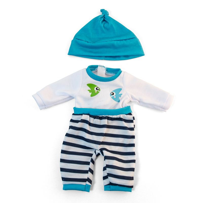 Doll Clothes Turquoise Pajamas