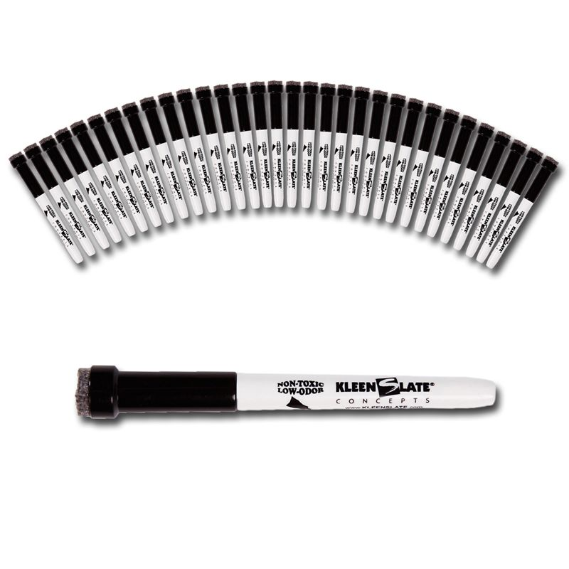 36pk Small Black Dry Erase Markers