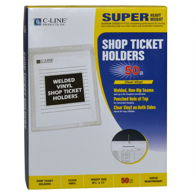 Vinyl Shop Ticket Holder 50/box Both Sides Clear 8.5x11