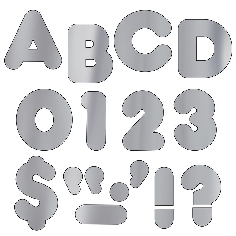 Ready Letters 4 Casual Metallic Silver
