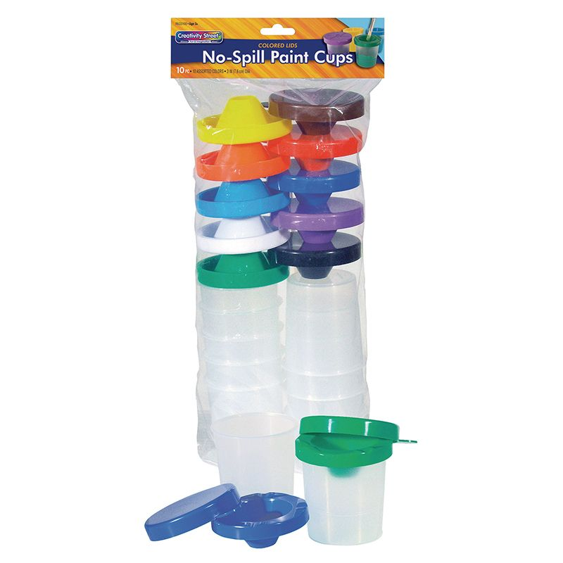 No Spill Paint Cups 10/Pk Dual Lid Storage Cups