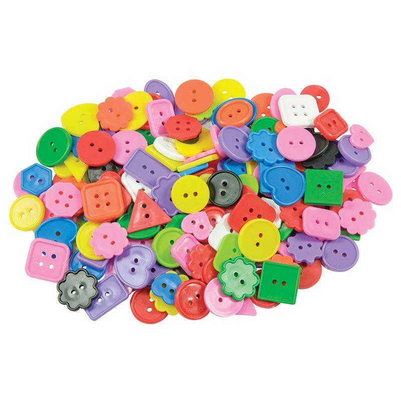 Craft Buttons Asst 1 Lb Pk