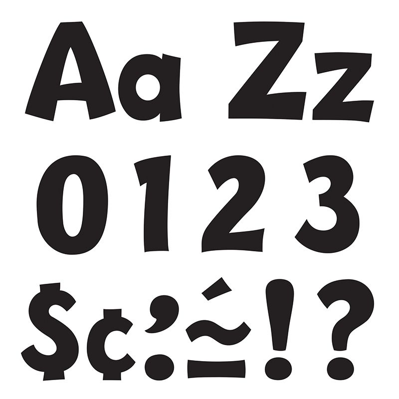 Ready Letter 4 Inch Playful Black Uppercase & Lowercase Combo