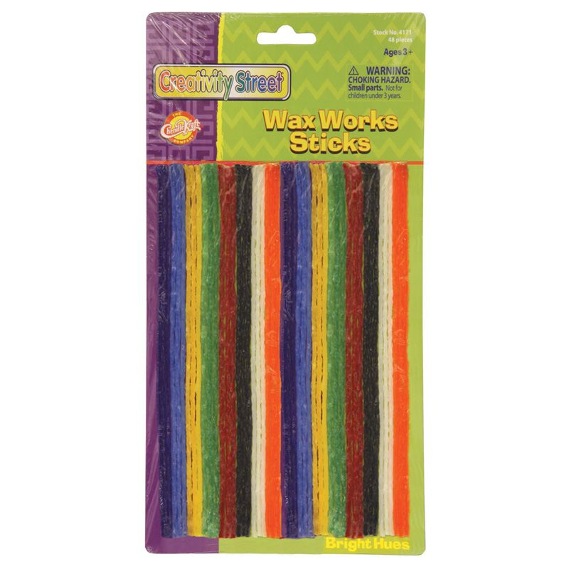 Wax Workssticks Assorted Brght Hues 8in 48 Pieces