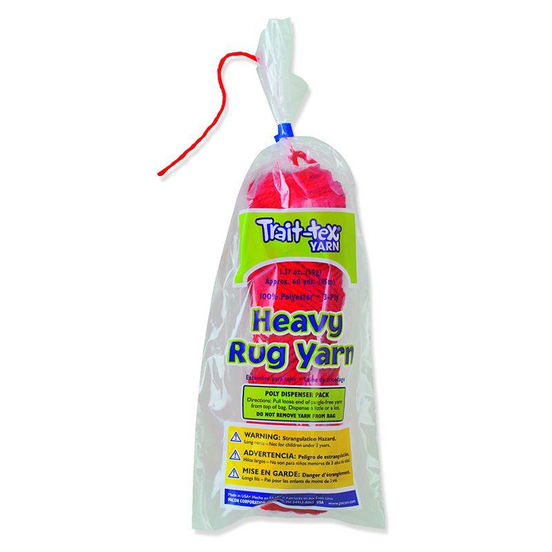 Heavy Rug Yarn Red 60 Yards