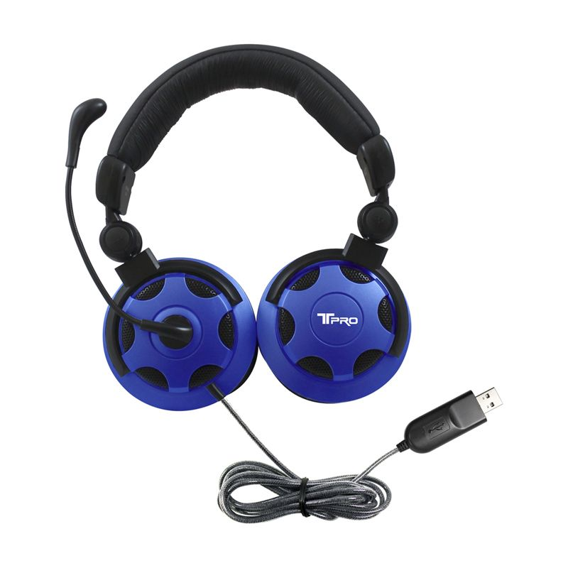 T Pro Usb Headset W/ Noise Cancelling Mic
