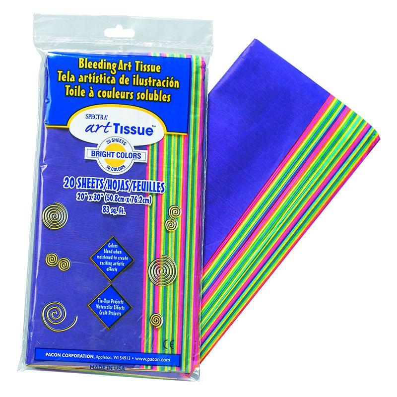 Bleeding Art Tissue 10 Color Bright Assortment 20 Sheets 20X30
