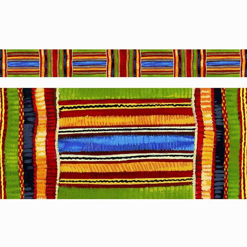 Kente Cloth Design Borders Straight 11/Pk 2.75 X 35.75 Total