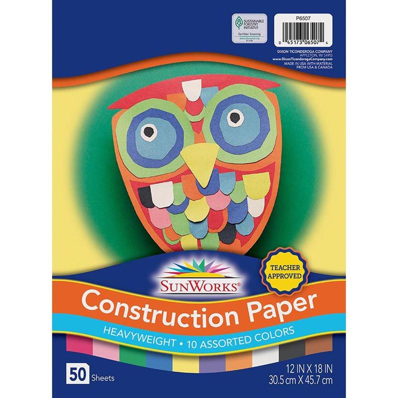 Construction Paper Assorted 12X18