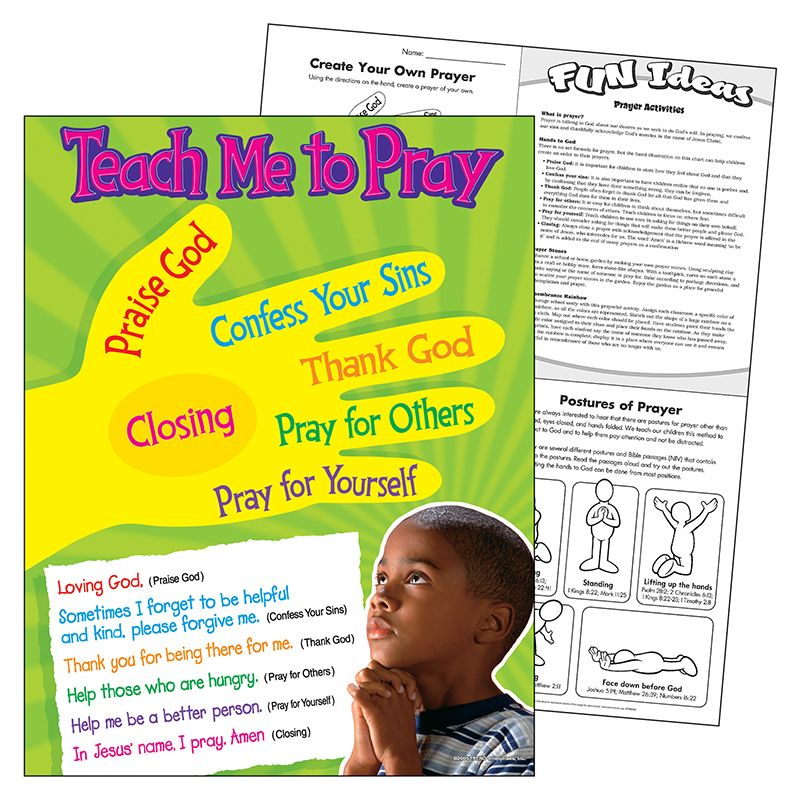 Teach Me To Pray Learning Chart