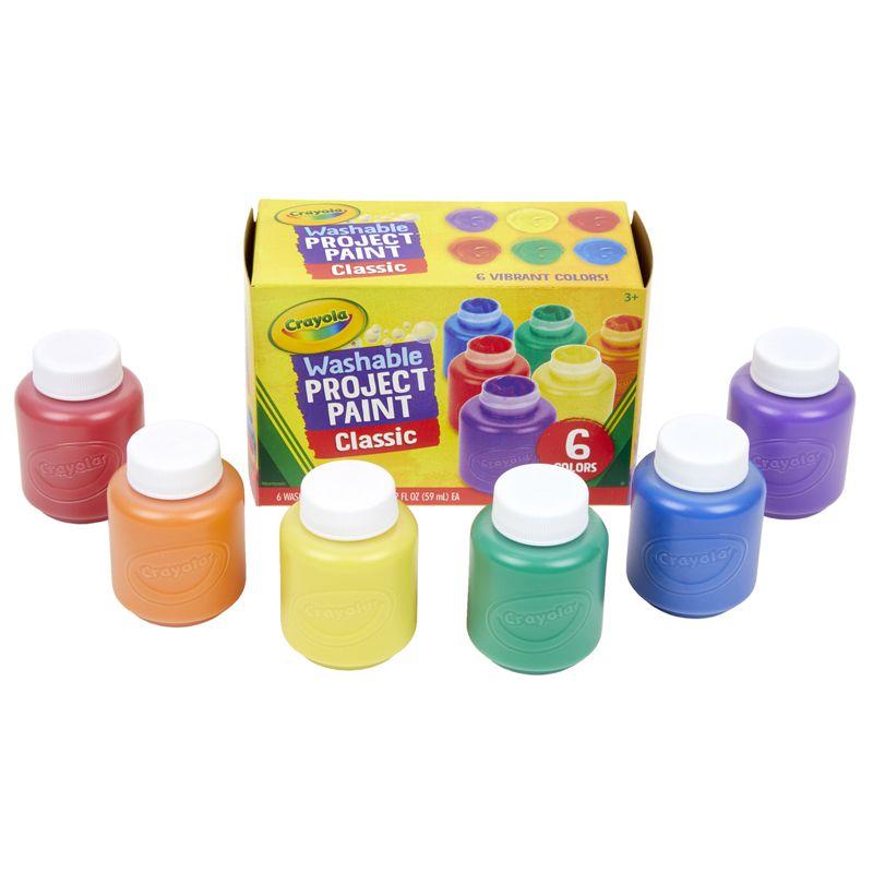 Washable Kids Paint 6 Jar Set