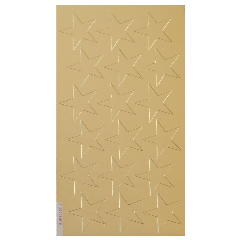 Stickers Foil Stars 3/4 Inch 175/Pk Gold