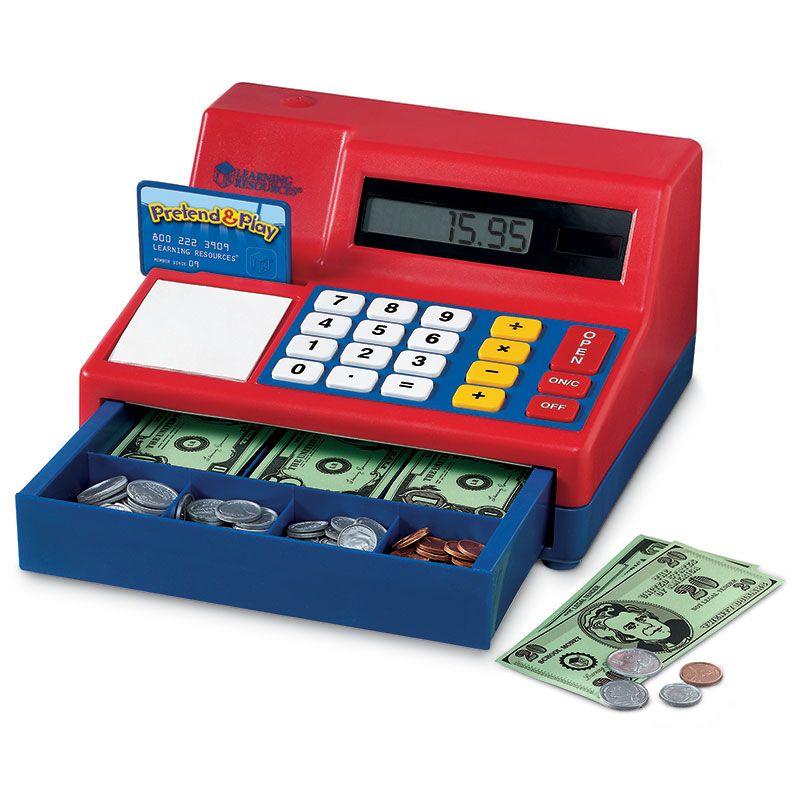 Calculator Cash Register W/ Us Currency