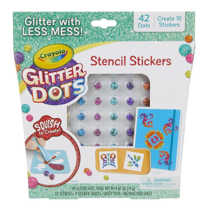 Glitter Dots Sticker Stencils