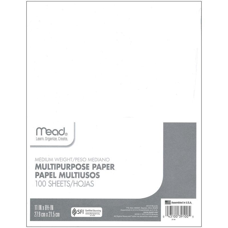 Multipurpose Paper 8.5X11 100Shts