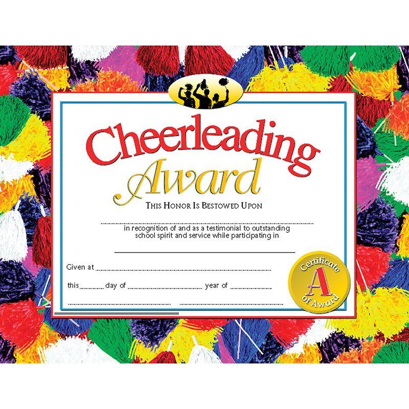 Cheerleading Award 30Pk 8.5 X 11 Certificates