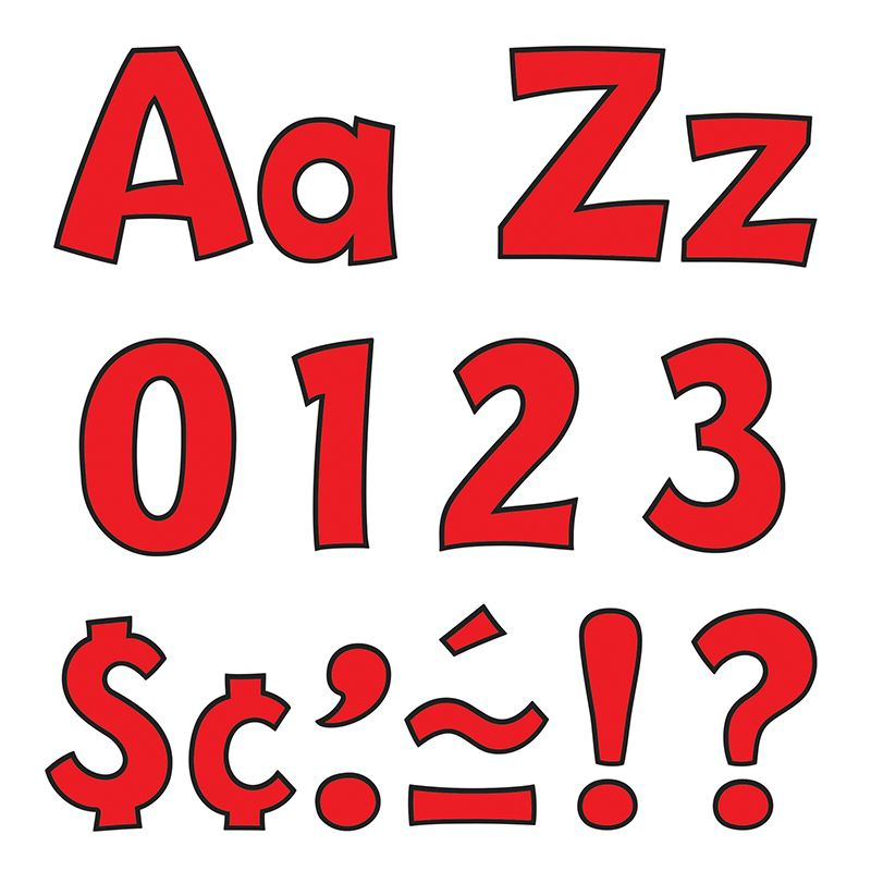 Ready Letter 4 Inch Playful Red Uppercase & Lowercase Combo