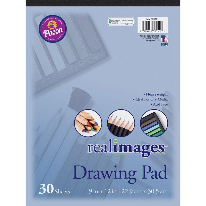 Real Images Drawing Pad Heavyweight 9x12 30 Sheets