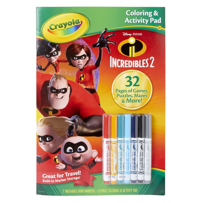 Colorng & Activty Pad Incredibles 2 W/markers