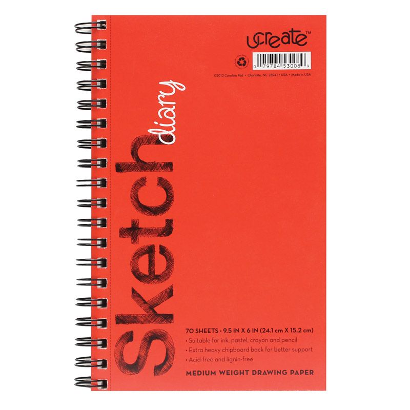 Sketch Diary Medium Weight 9.5x6 70 Sheets