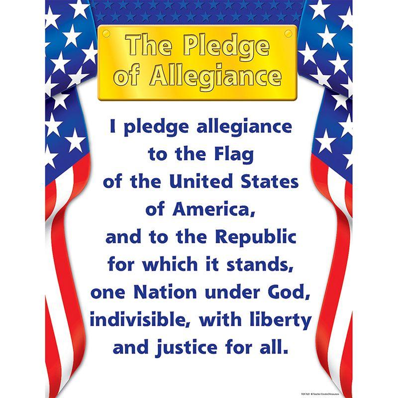 Pledge Of Allegiance Chart 17X22