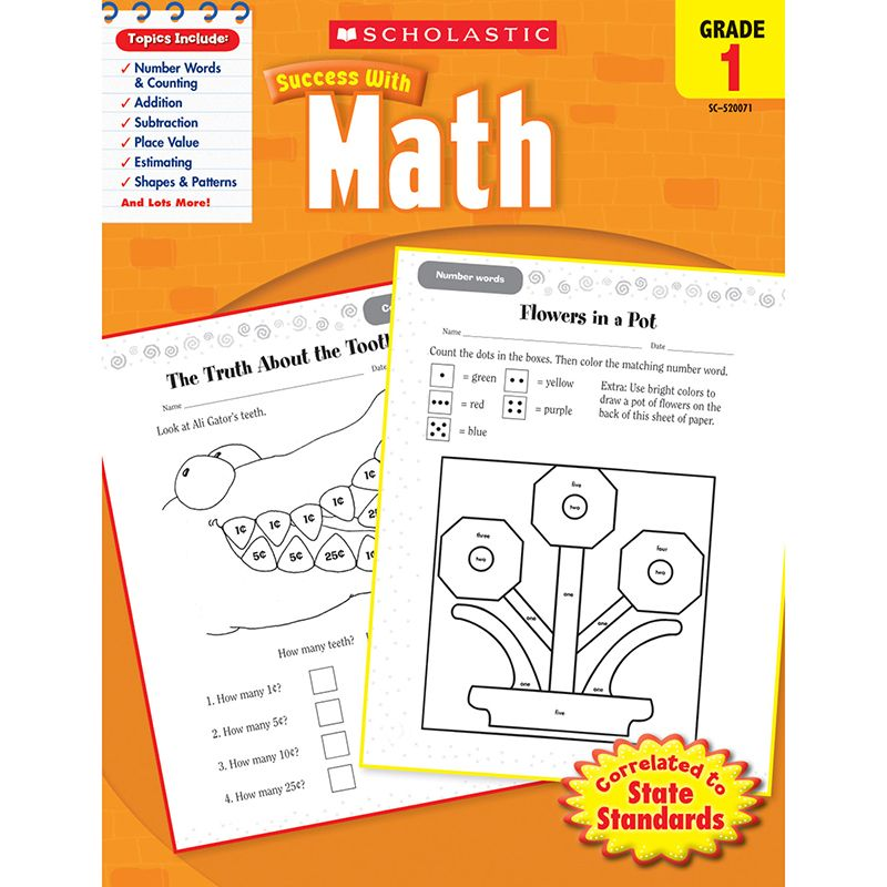 Scholastic Success With Math Gr 1