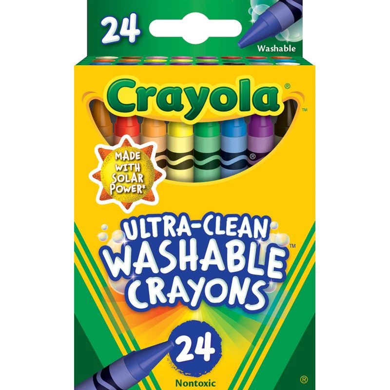 24 Ct Ultra-clean Washable Crayons Regular Size