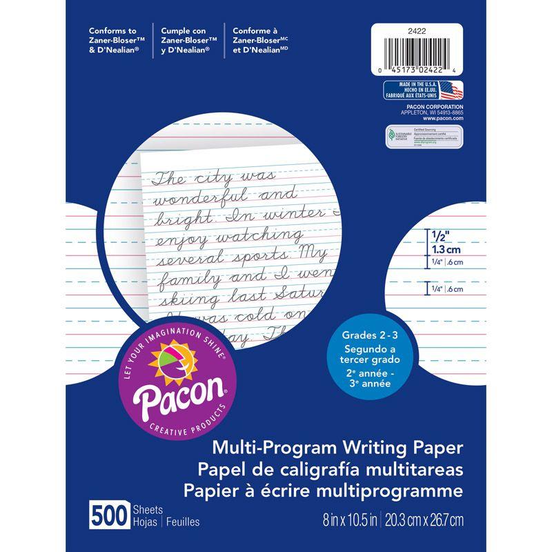 Writing Paper 500 Sht 8X10.5 1/2 In Rule Short Rule