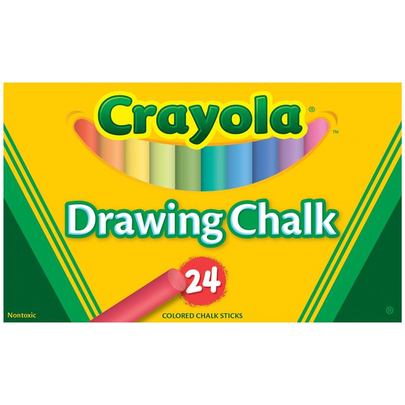 Crayola Colored Drawing Chalk 24Pk