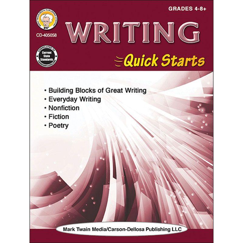 Writing Quick Starts Workbk Gr 4-8+