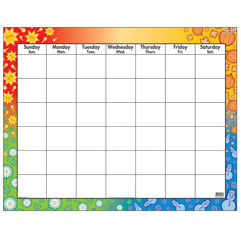 Wipe-Off Chart Calendar 22 X 28