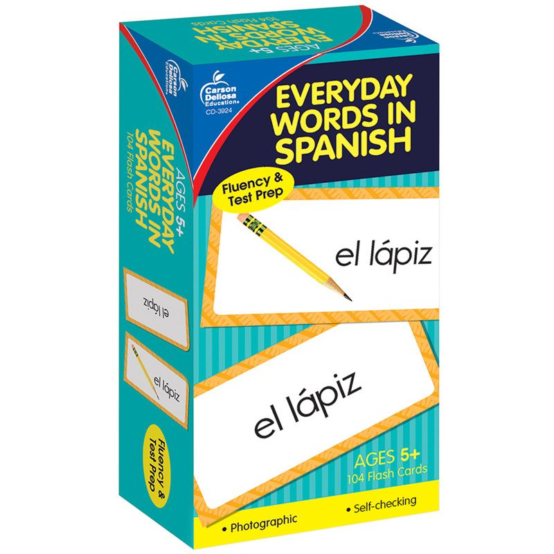 Flash Cards Everyday Words In Spanish Photographic