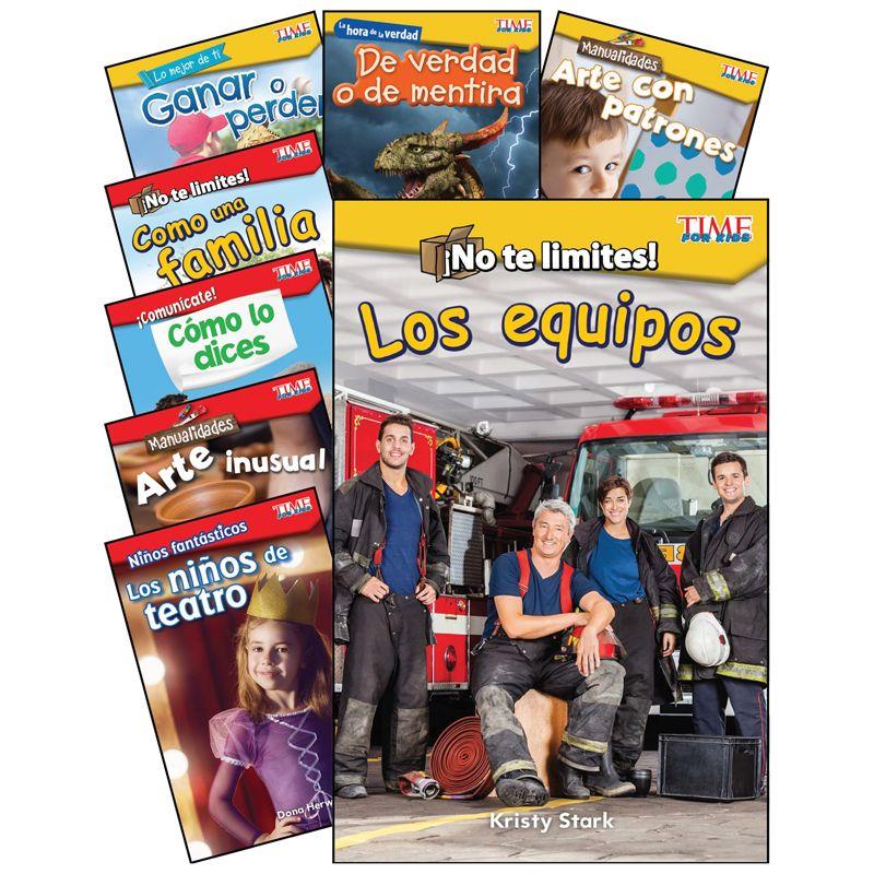 Social Studies/lang Arts Spanish Gr K-1 8 Book Set Time For Kids