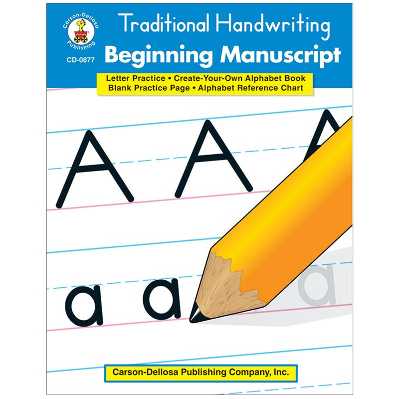 Traditional Handwriting Beginning Manuscript Resource Book