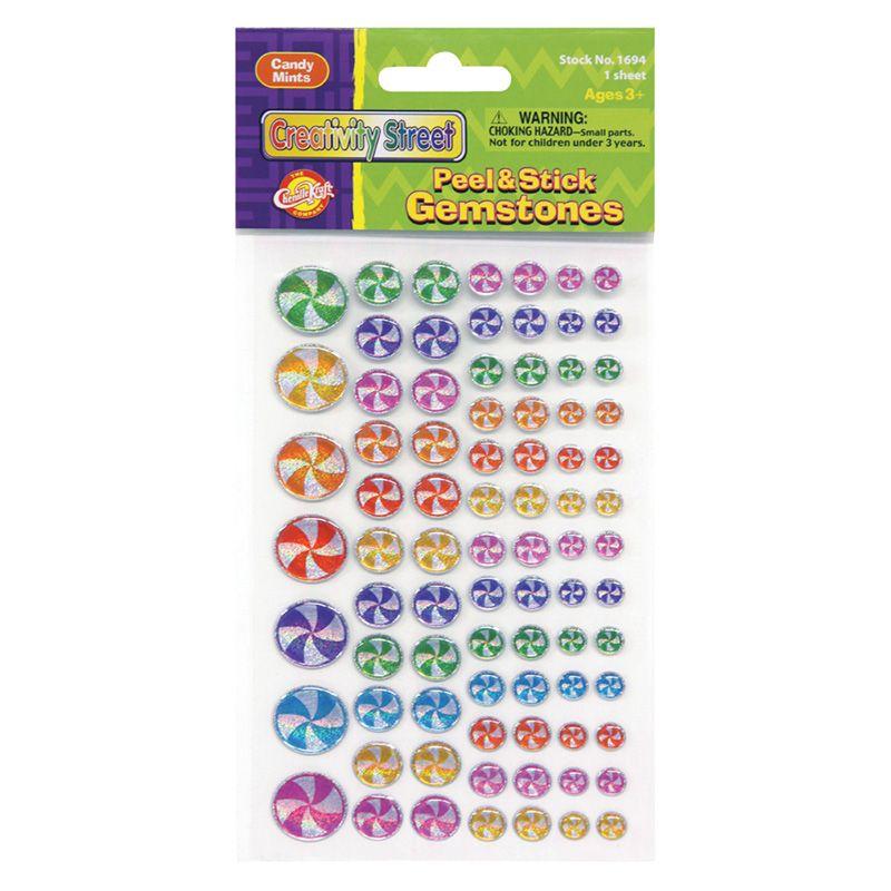 Gemstone Stickers Candy Mints 81 Pc