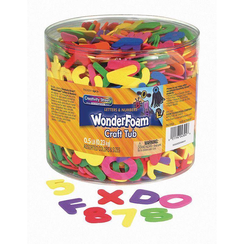 Wonderfoam Letters & Numbers Tub 1/2 Lb