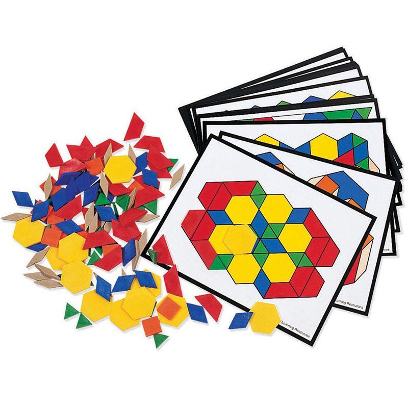 Pattern Block Activity Pk 124 Blocks 16 Cards