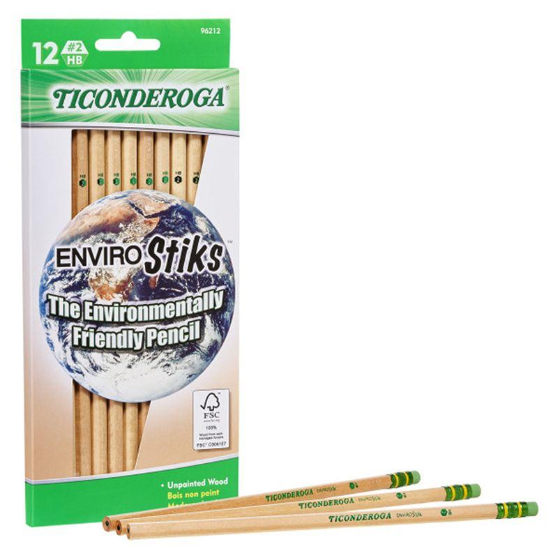 Ticonderoga Envirostik Pencls No 2 Soft