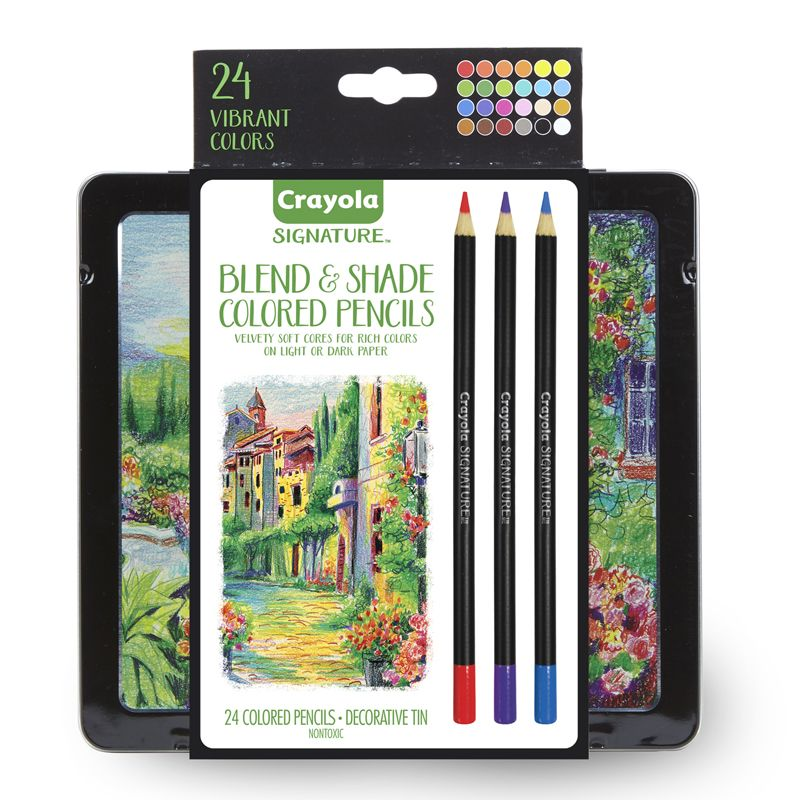 24ct Blend & Shade Colored Pencils W/tin