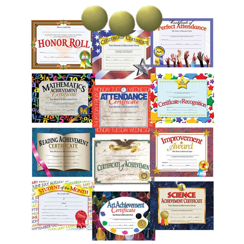 Hayes Certificate/seal Assortment