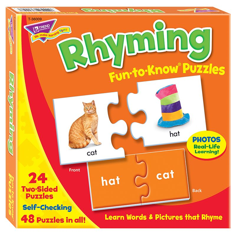 Fun To Know Puzzles Rhyming