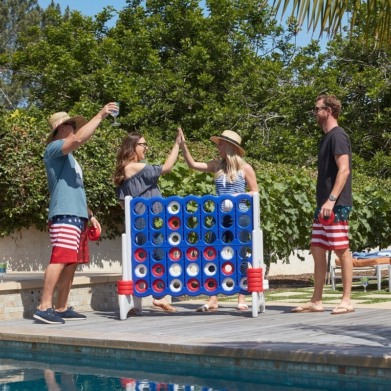 Jumbo 4-to-score Giant Game, Indoor/outdoor - Red, White And Blue