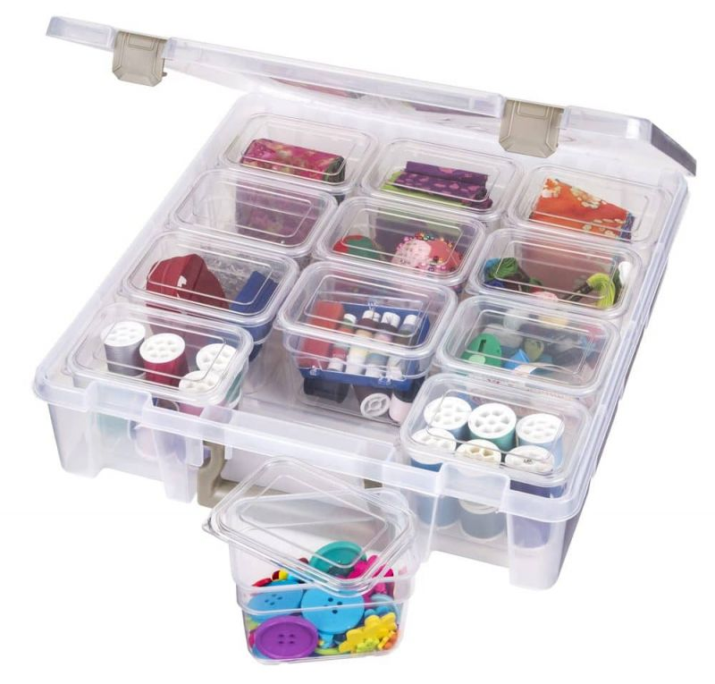 Super Satchel™ With Small Bins, Clear