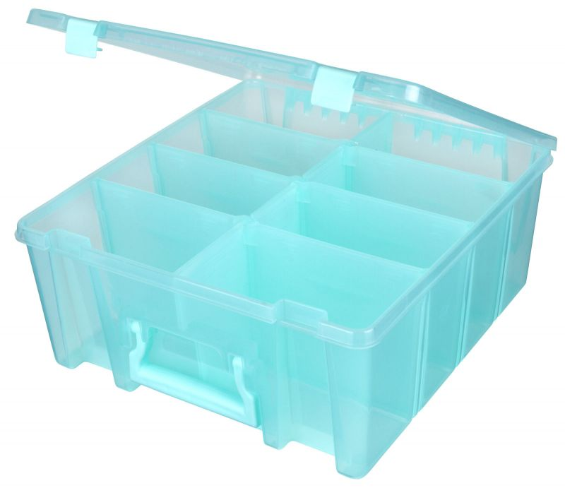 Super Satchel™ Double Deep With Removable Dividers, Aqua