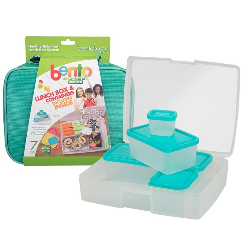 Bentology Turquoise Complete Lunch Box Set